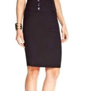 High Waisted 'Pinup ' Pencil Skirt w Buttons (d8)